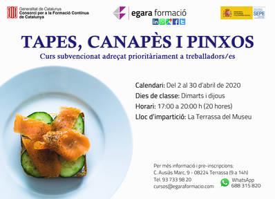 TAPAS, CANAPES Y PINCHOS (SUBVENCIONADO)
