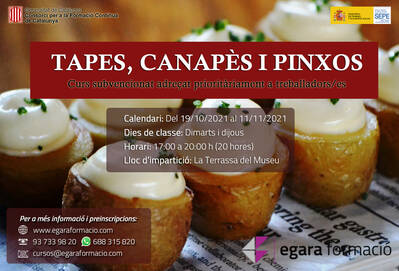 TAPES, CANAPÈS I PINXOS (SUBVENCIONAT)