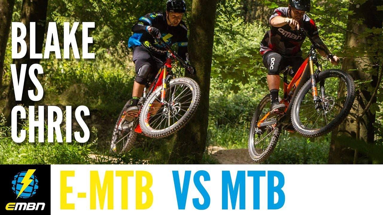 E-Bike Vs Mountain Bike | Chris Smith Vs Blake Samson