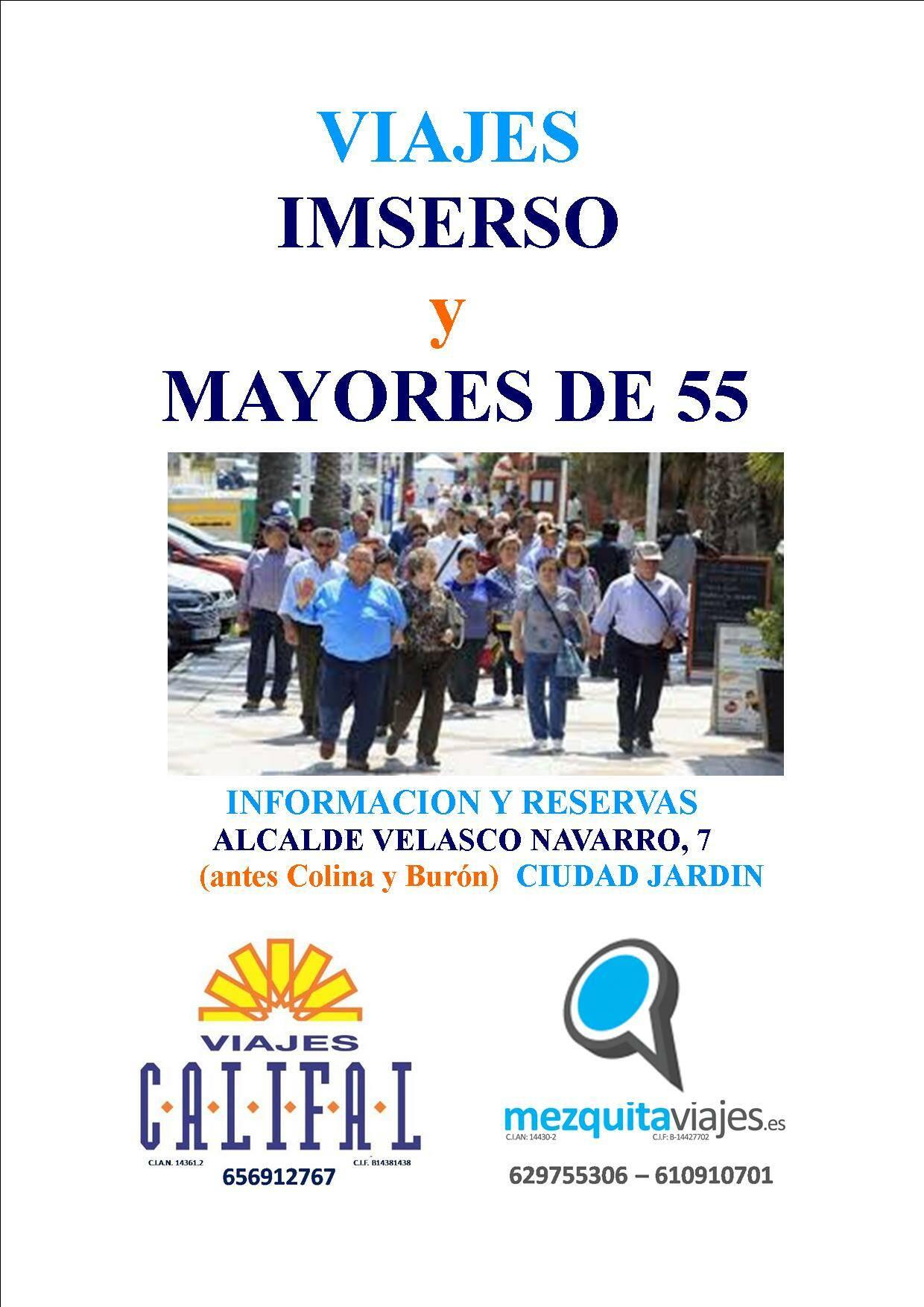 Imserso MAYORES DE 55
