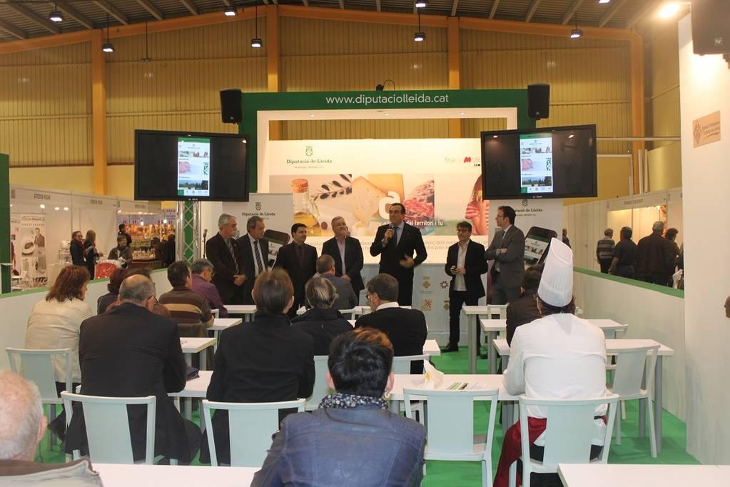 Presentación de la App Aliments del territori i tu a la Feria de Sant Josep de Mollerussa (Lleida)