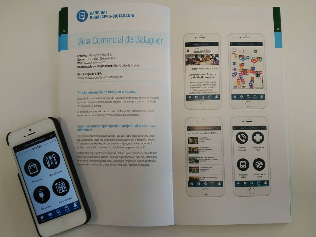 The App's Food Guide App Territory and Balaguer, candidates for the awards RURALAPPS