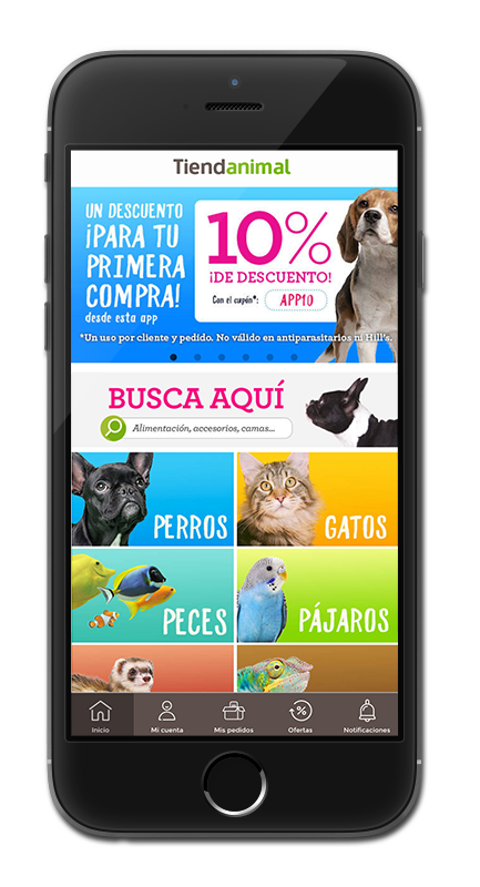 Tiendanimal already has its App created with Reskyt.