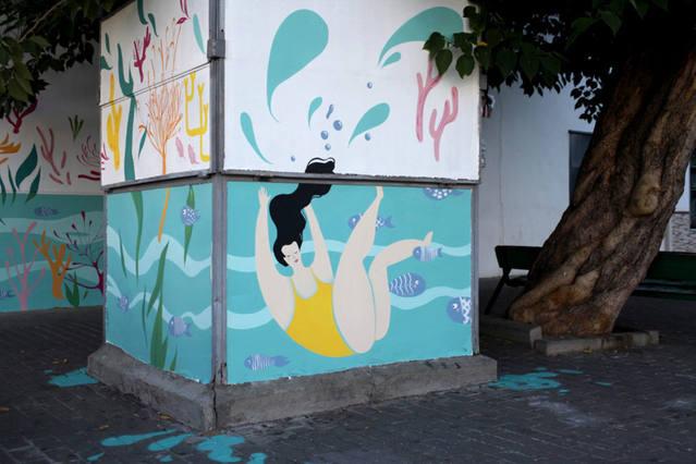 'Made in Barrio' inunda de dibujos y sueños el distrito Sur