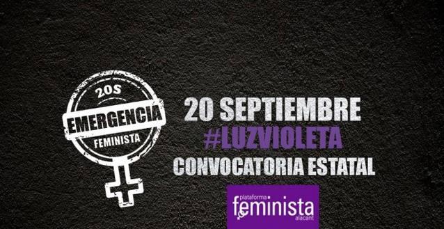 Más de 200 ciudades españolas se suman a la 'emergencia feminista' este 20S y se iluminarán de violeta