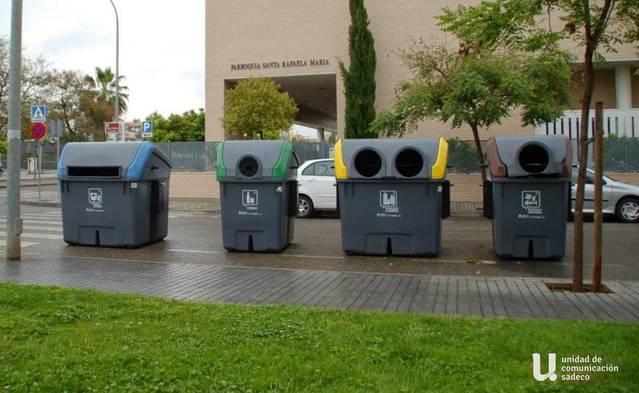 Sadeco garantiza contenedores de los cuatro tipos en cada punto de recogida de residuos