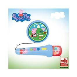 Micro de mano con amplificador y ritmo Peppa Pig