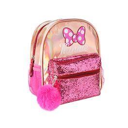 Mochila Minnie rosa purpurina 26 cms