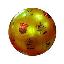 Balón FC Barcelona firmas