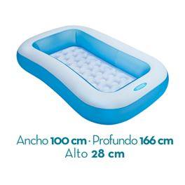 Piscina bebé rectangular 166x100x28 102l