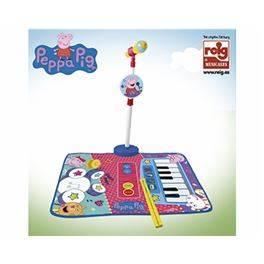 Catifa bateria i piano amb micro i suport micro Peppa Pig