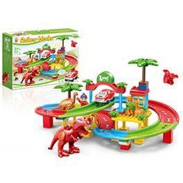 Blocks set 80 peces Pista Dinosaures amb cotxe, llum i so (26,96 € amb Targeta Client)
