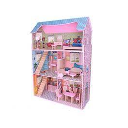 Casa de nines de fusta amb mobles (98,96 € amb Targeta Client)