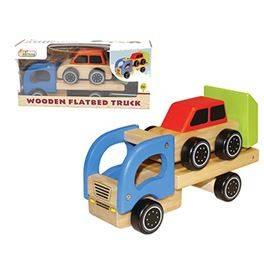 Camió transportador amb 1 cotxe fusta (16,16 € amb Targeta Client)