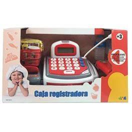 Caja registradora con luz, sonido y calculadora