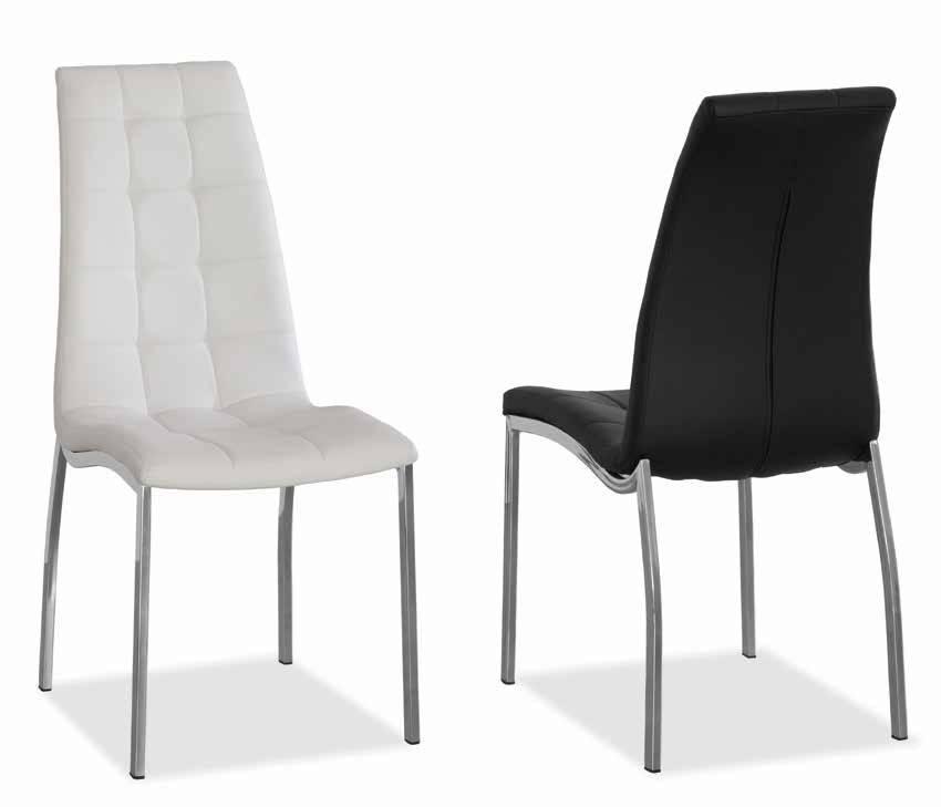 Cadira amb potes cromades
