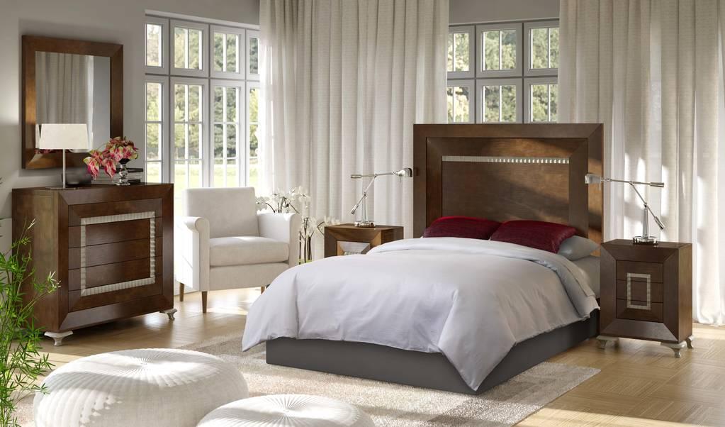 Dormitorio con pata greca