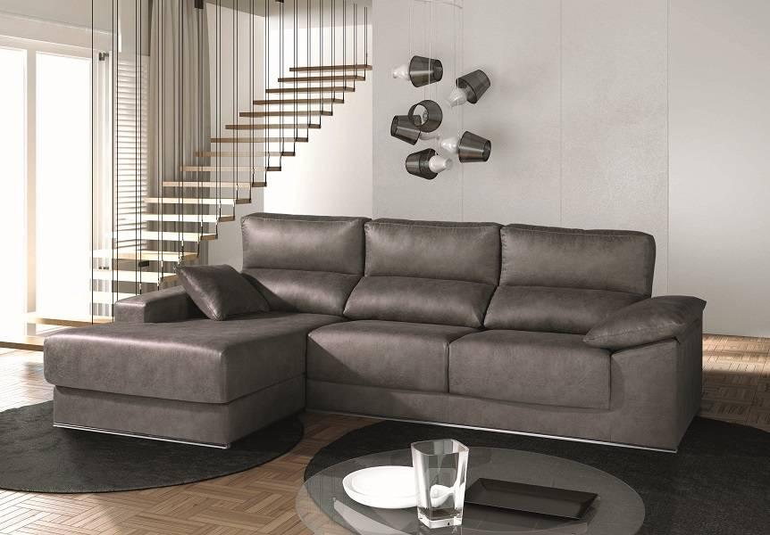 Sofá de 3 plazas y chaise-longue