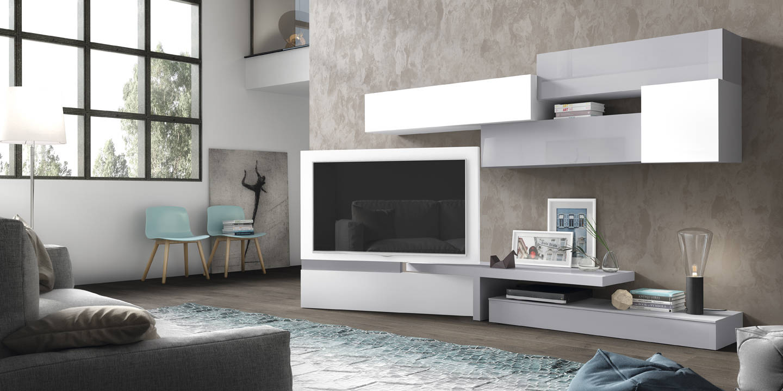 Composici N Con Panel Tv Giratorio # Muebles Salvany Teixido