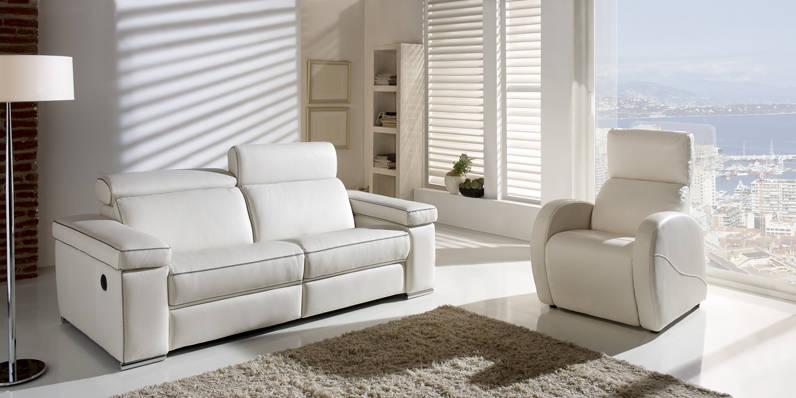 Sofà amb relax elèctric o manual