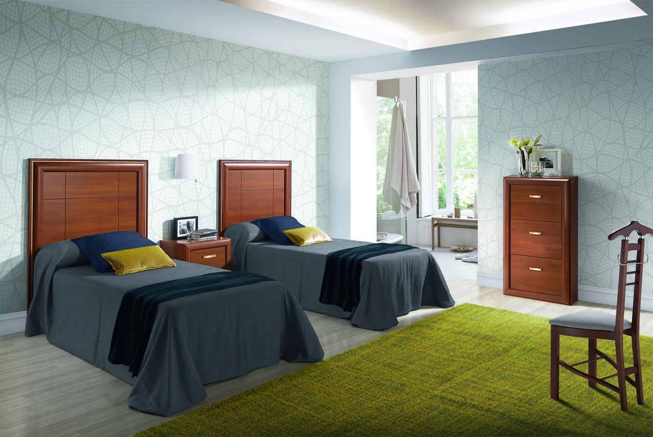 Dormitorio con 2 camas de 90cm