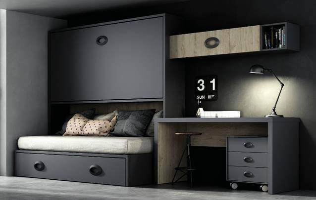 Dormitori amb llit abatible