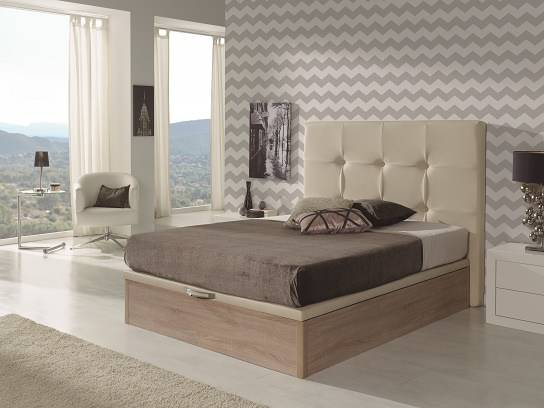 Canapé de madera elevable