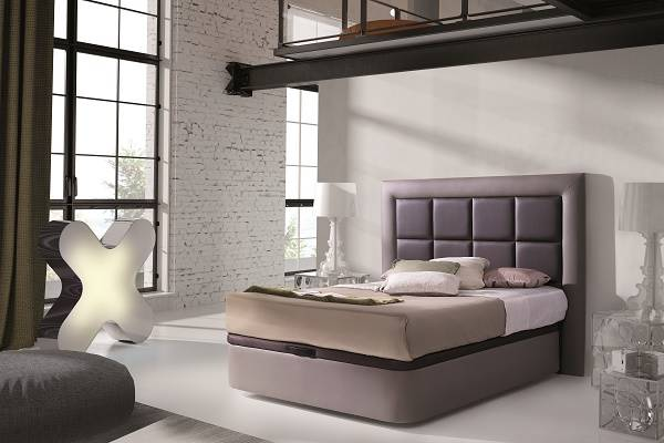 Canapé tapizado elevable