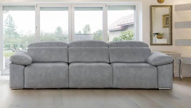 Sofá con asientos deslizante desde suelo