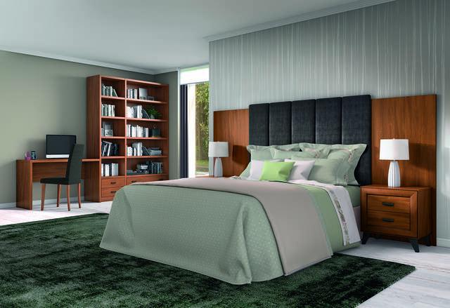 Habitació amb capçal entapissat