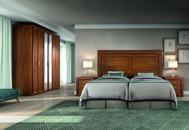 Dormitori complet amb 2 llits de 90 cm.