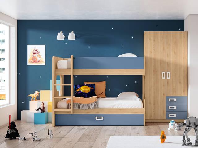 Juvenil amb llitera i armari
