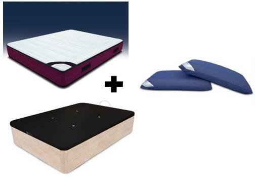 Pack matalàs visco-gel + canapè elevable transpirable + coixins visco air