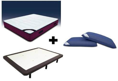 Pack colchón visco-gel + tapi transpirable polipell + almohadas visco air