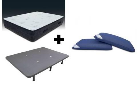 Pack colchón viscoelástico + tapi transpirable + patas + almohadas visco air.