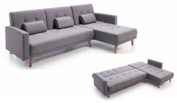 Sofà chaise-longue llit