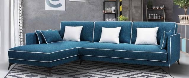 Sofà de disseny amb chaise-longue