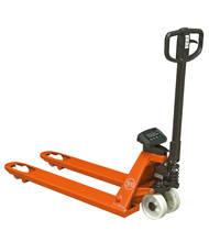 Transpaletas manuales de bajo elevación con pesadora para adecuar el peso de la carga durante su manipulación