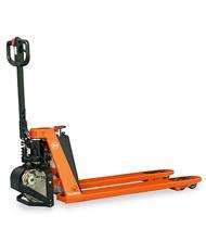 Transpaleta manual a baja elevación con conducción automática para fácil manejo de los pallets