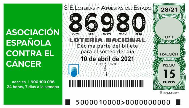 10 d'abril, Sorteig contra el Càncer: 86.980, el número de l'Aplec