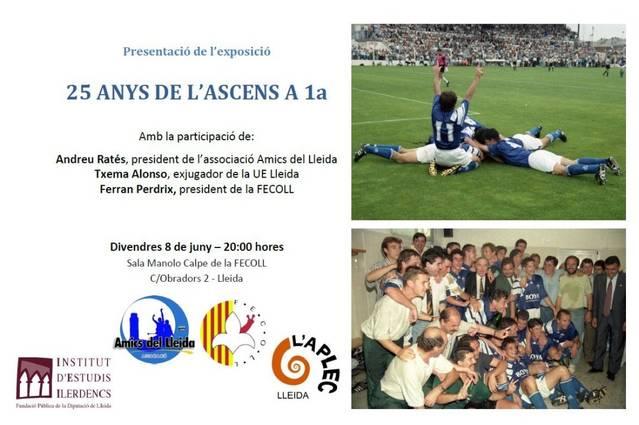 Exposició a la Fecoll amb motiu dels 25 anys de l'ascens a 1a de la UE Lleida