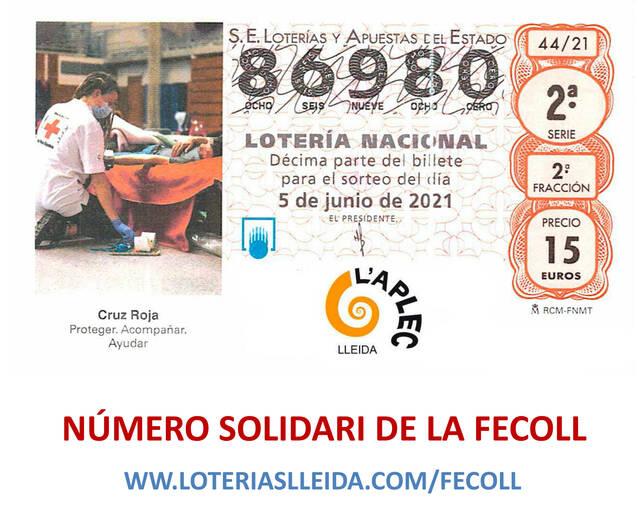 5 de juny, Sorteig Creu Roja: 86.980, el número de l'Aplec