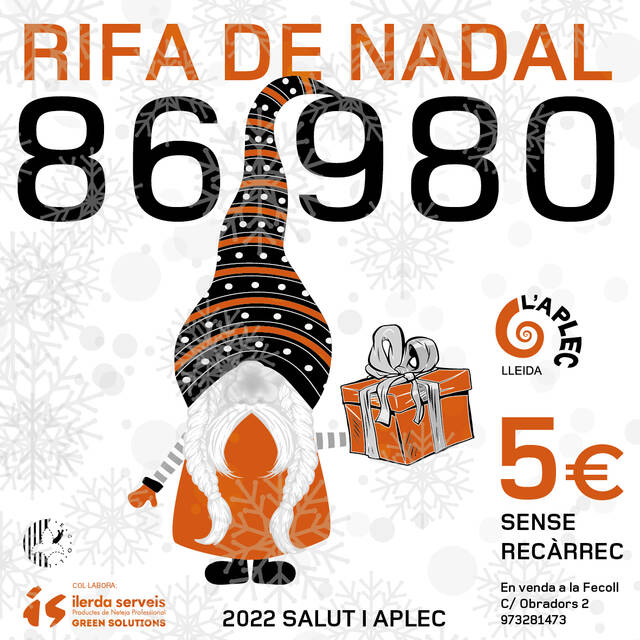 86980: La Fecoll posa a la venda la loteria de la Rifa de Nadal