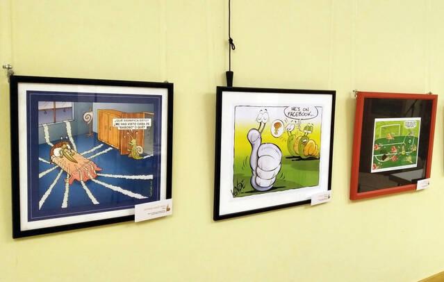 Exposició de les obres guanyadores del Concurs Internacional d'Humor Gràfic Caragoler