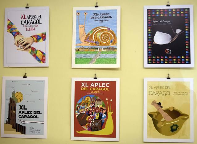 Exposició del concurs de Cartells del XL Aplec del Caragol de Lleida