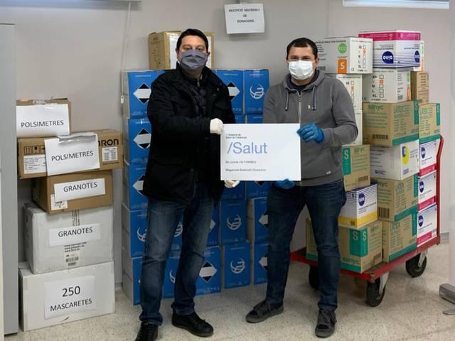 La Fecoll recauda 7.000 euros de peñas, particulares y empresas para material sanitario