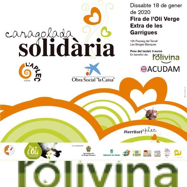 La reforestación de olivos de ACUDAM abre las Caracoladas Solidarias 2020 de la Fecoll,  en la Feria del Aceite de Borges