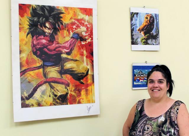 Mery Vázquez exposa a la Fecoll obres de diverses tècniques artístiques