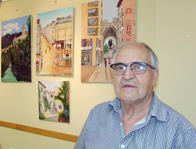 """Ramon Vallés exposa els seus """"Racons de Lleida"""" a la Fecoll"""