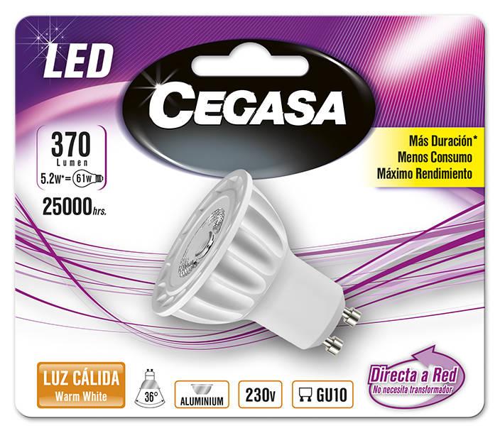 LMP CEGASA LED DIC 5,2W GU10 BL1 CALIDA